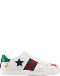 Tenis de estrellas blancos de Gucci