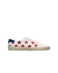 Tenis de estrellas blancos de Saint Laurent