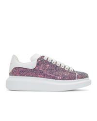 Tenis de lentejuelas rosados de Alexander McQueen
