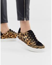 Tenis de leopardo marrón claro de ASOS DESIGN