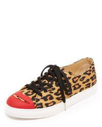 Tenis de leopardo marrón claro de Charlotte Olympia