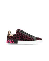 Tenis de leopardo rosa de Dolce & Gabbana