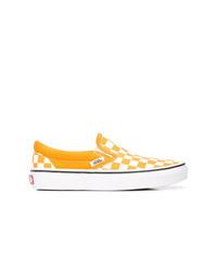 Tenis de lona a cuadros amarillos de Vans