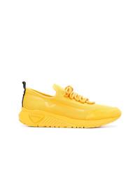 Tenis de lona amarillos de Diesel