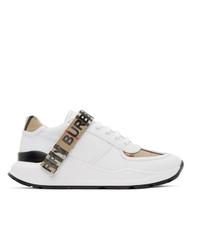 Tenis de lona blancos de Burberry