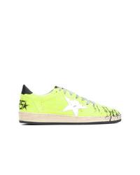 Tenis de lona en amarillo verdoso de Golden Goose Deluxe Brand
