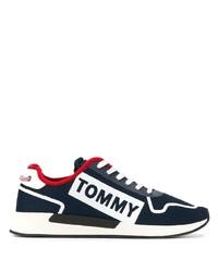 Tenis de lona en azul marino y blanco de Tommy Jeans