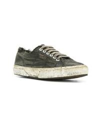 Tenis de lona en gris oscuro de Massimo Alba