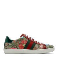 Tenis de lona en multicolor de Gucci