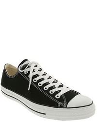 Tenis de lona en negro y blanco