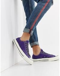 Tenis de lona en violeta de Converse