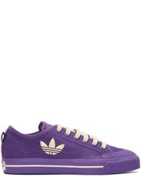 Tenis de lona en violeta de Raf Simons