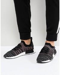 Tenis de lona estampados en negro y blanco de adidas Originals