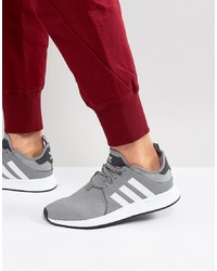 Tenis de lona grises de adidas Originals