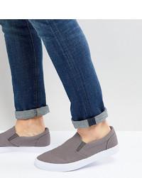 Tenis de lona grises de ASOS DESIGN