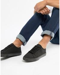Tenis de lona negros de ASOS DESIGN
