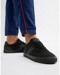 Tenis de lona negros de Polo Ralph Lauren