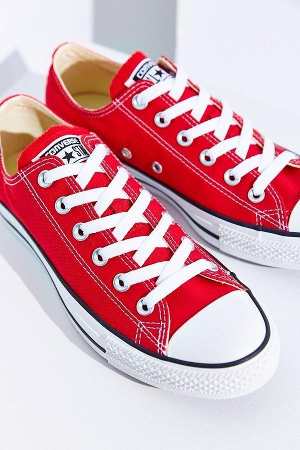 zapatillas converse plataforma roja