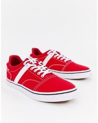 Tenis de lona rojos de Jack & Jones
