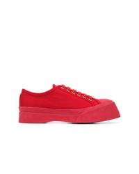 Tenis de lona rojos de Marni