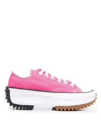 Tenis de lona rosa de Converse