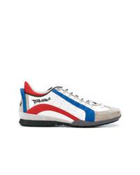 Tenis en blanco y rojo y azul marino de DSQUARED2