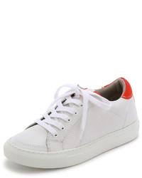 Tenis en blanco y rojo de Modern Vintage