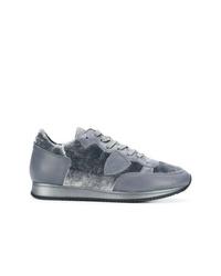 Tenis en gris oscuro de Philippe Model