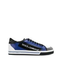 Tenis en negro y azul de Dolce & Gabbana
