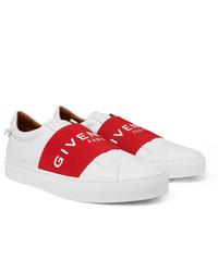 Tenis en rojo y blanco de Givenchy