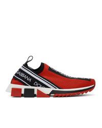 Tenis en rojo y negro de Dolce and Gabbana