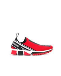 Tenis en rojo y negro de Dolce & Gabbana