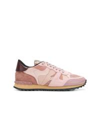 Tenis estampados rosados de Valentino