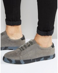Tenis grises de Asos