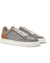 Tenis grises de Brunello Cucinelli