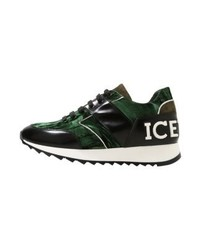 Tenis verde oscuro de Iceberg