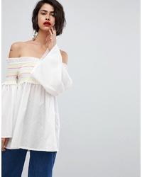 Top con hombros descubiertos blanco de Vero Moda