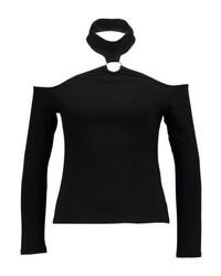 Top con hombros descubiertos negro de Even&Odd