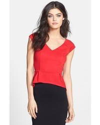 Top con sobrefalda rojo original 3995129