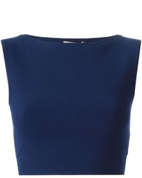 Top corto azul marino de Michael Kors