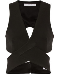 Top corto con recorte negro de Dion Lee