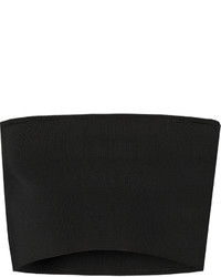 Top corto de punto negro de Calvin Klein Collection