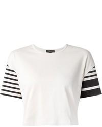 Top corto de rayas horizontales en blanco y negro de Rag and Bone
