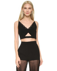 Top corto negro de Versace