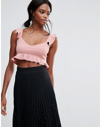 Top corto rosa de Missguided