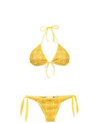 Top de bikini amarillo de Amir Slama