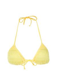Top de bikini amarillo de Cecilia Prado