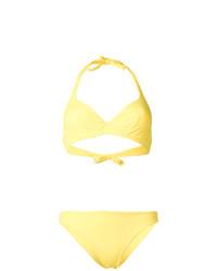 Top de bikini amarillo de Fisico