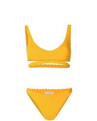 Top de bikini amarillo de Sian Swimwear