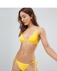 Top de bikini amarillo de South Beach